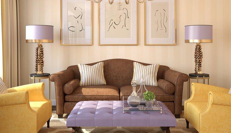 Utiliza el efecto metalizado para darle un efecto brillante a las habitaciones