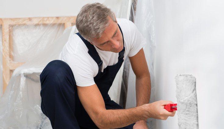 La eliminación del gotelé mediante raspado solo puede hacerse en paredes con pinturas blandas y fáciles de quitar