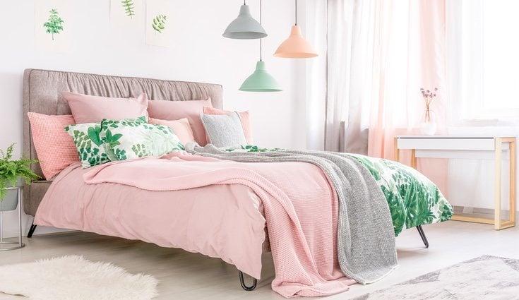 Se puede combinar el rosa con el verde para añadir más originalidad