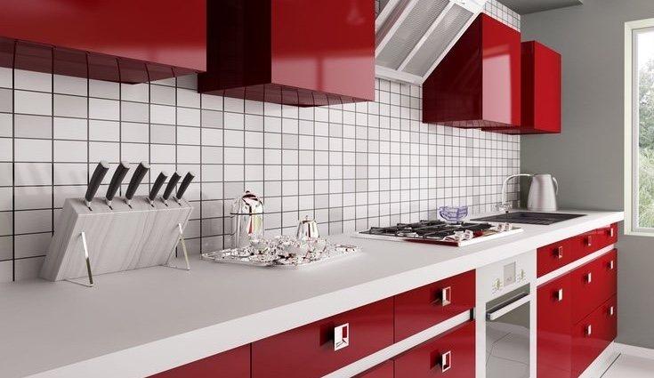Algo muy importante es saber distribuir bien el rojo por la cocina