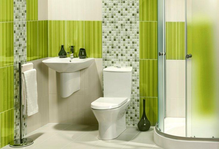 El color verde en baños aporta frescura