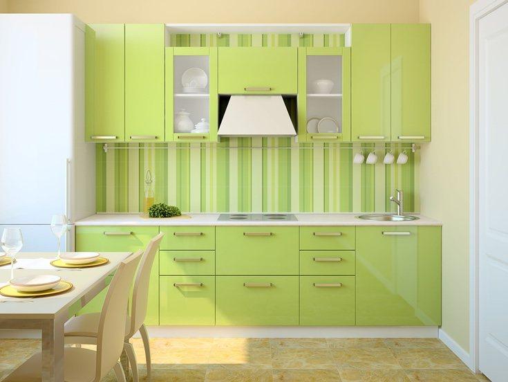 Aplicar color en las cocinas es cada vez más común