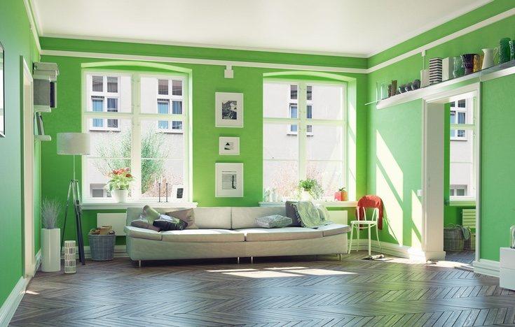 El verde combina con cualquier otro color en pequeñas cantidades
