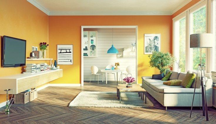 En el caso de comedores pequeños, es más recomendable pintar solo una pared