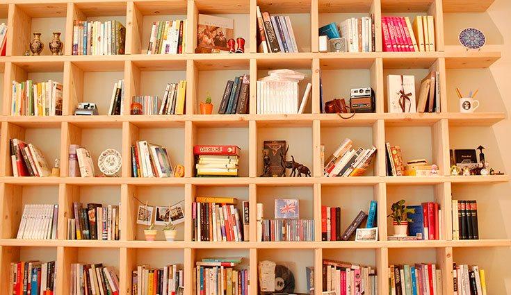 Las estanterías son una buena opción para guardar los libros, pero hay que seguir un orden para que el resultado sea armónico y atractivo