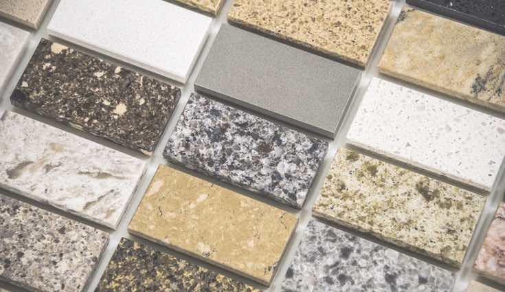 Varios tipos de encimeras de granito