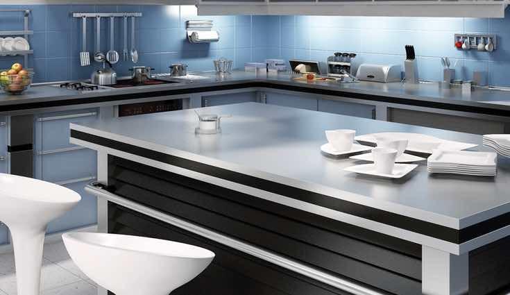 Las de cristal son perfectas para cocinas modernas
