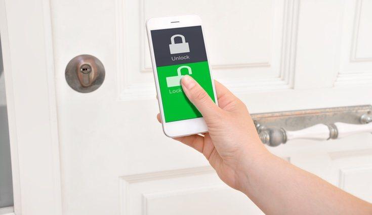 La domótica te permite bloquear la casa o una habitación particular