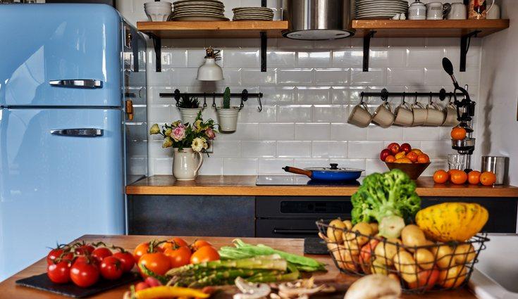 La combinación más común de frigoríficos retro y azulejos metro