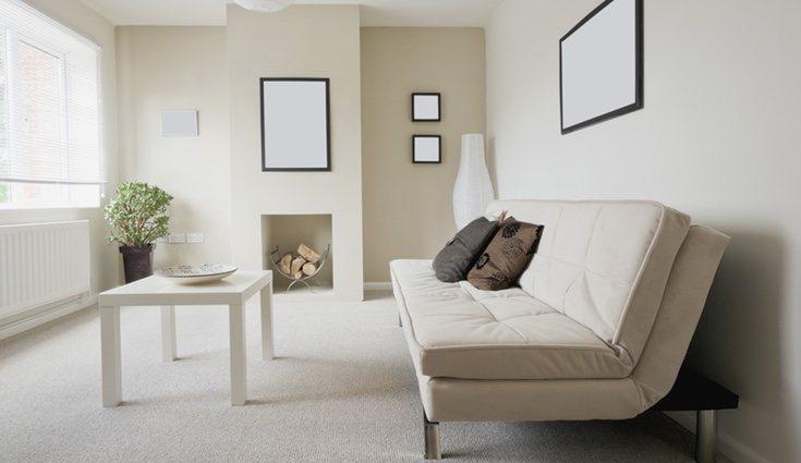 Estilo minimalista aplicado a un pequeño salón