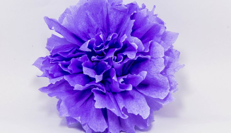 Estas flores con forma de pompom son muy fáciles de realizar, puedes contar con la ayuda de los más peques