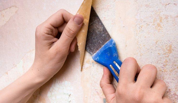 La eliminación del gotelé mediante raspado solo puede hacerse en paredes con pinturas blandas