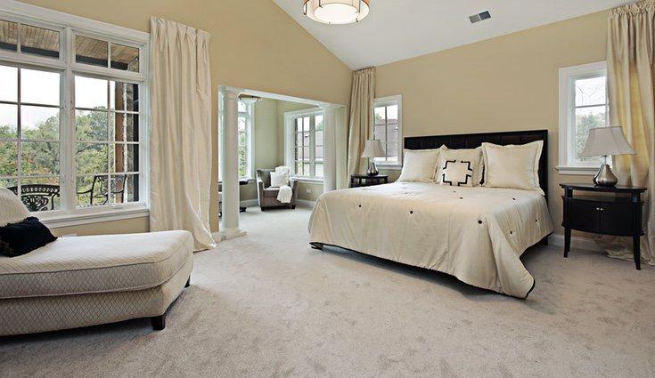 La moqueta es muy cálida y suave y es ideal para las habitaciones