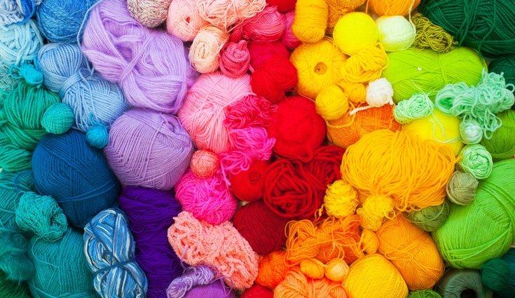 La variedad de colores de lana para elegir es infinita