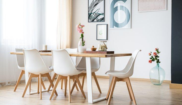 Una mesa amplia para cuando vengan visitas