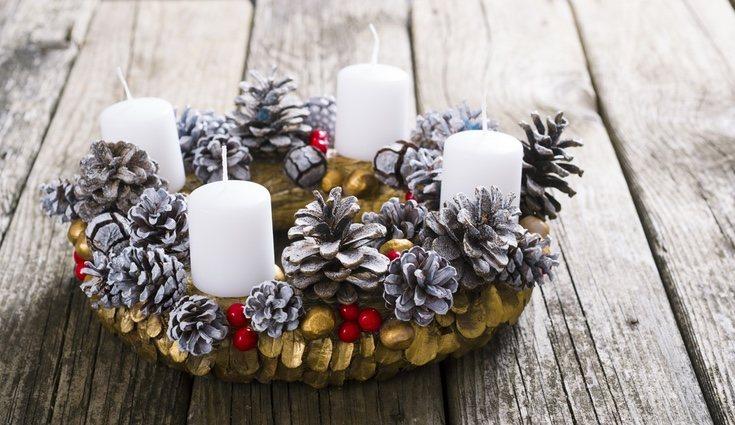 Centro de mesa navideño tradicional