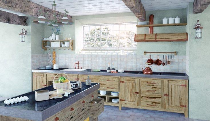 Los muebles, aunque pueden estar pintados, suelen ser de madera