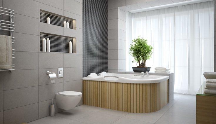 Un baño limpio y ordenado es perfecto para sesiones de relajación