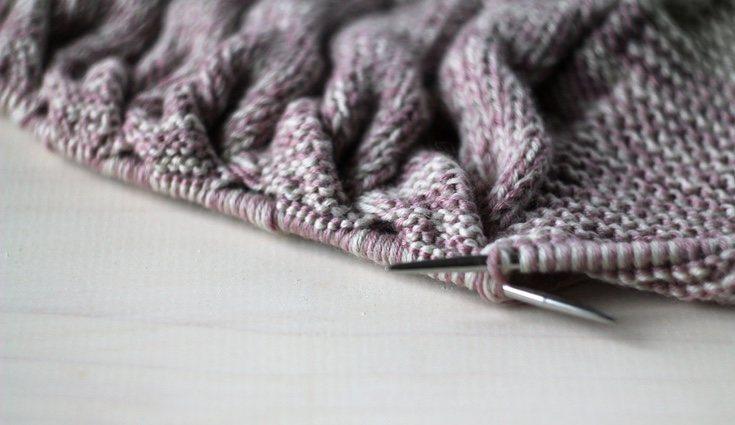 El punto elástico deja la bufanda en bandas