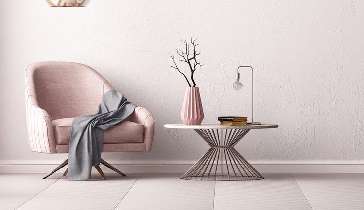 Para una decoración más actual, mezclar los estilos de los muebles con los materiales