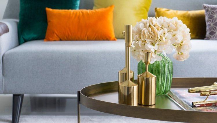 La decoración en oro aporta elegancia y empoderará tu estancia
