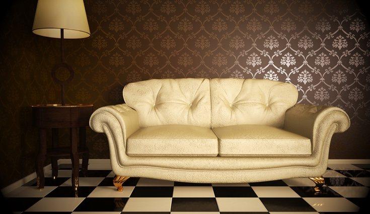 Ejemplo de sofá típico en los años 80