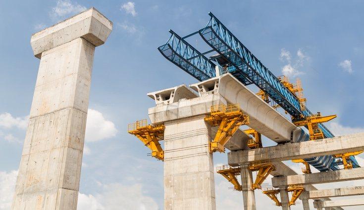 Las máquinas de hormigón industrial pueden mezclar grandes cantidades