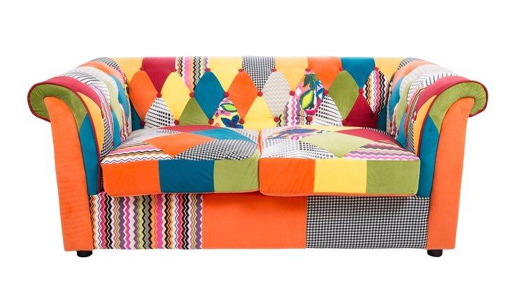 El patchwork es un tejido hecho por la unión de pequeñas piezas de telas cosidas