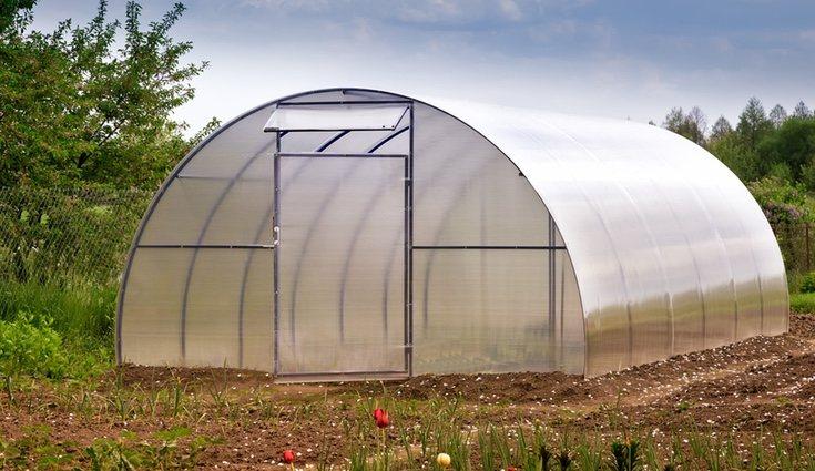 Los invernaderos pequeños se pueden hacer fácilmente con una estructura de madera y plástico