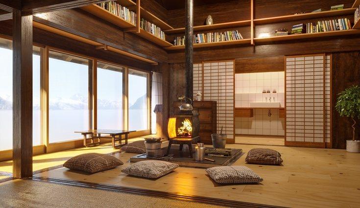La decoración zen destaca por usar amplios ventanales