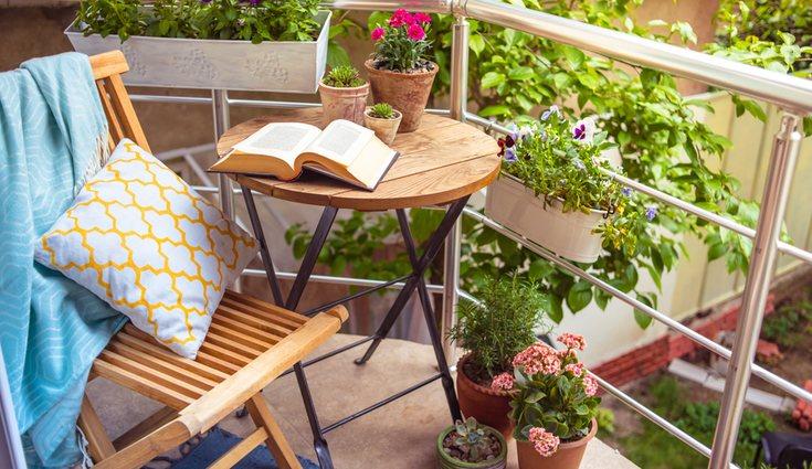 Es importante conectar con la naturaleza. Decora la terraza o balcón con plantas y flores