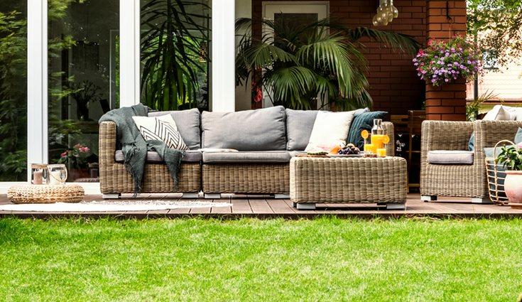 Los muebles de exterior deberán ser siempre específicos para el jardín