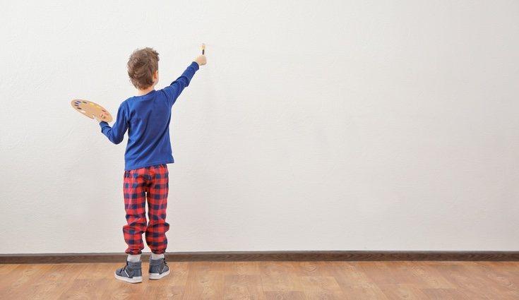 Existe la pintura ecológica que es más saludable para niños y se usa en colegios