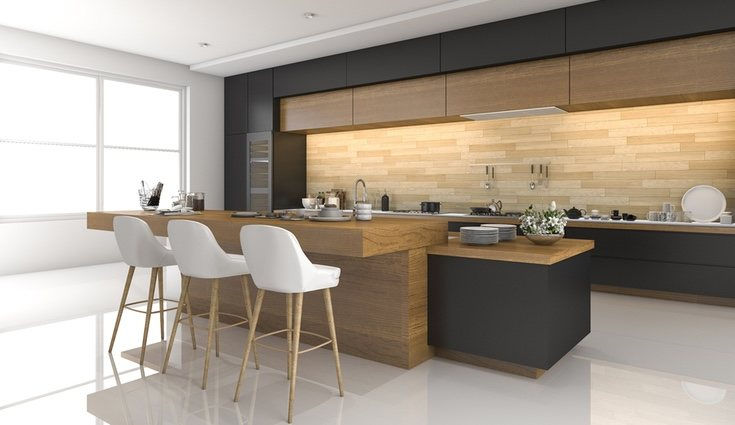 Los muebles de madera maciza son ideales para las cocinas